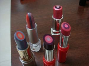 3 Colors Design Lipstick, Multi-Colors Lipstick, Lipstick Molds